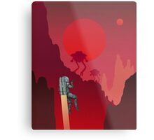 Blood Red Mars Metal Print