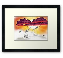 Hitchhikers Framed Print