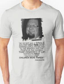 Jenn Jillette Catholic Church quote 2w Unisex T-Shirt