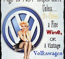 Vintage Cheese wine & Volkswagen by Sharon Poulton