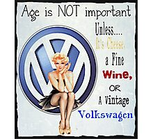 Vintage Cheese wine & Volkswagen Photographic Print