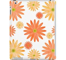 Orange Flowers Pattern iPad Case/Skin