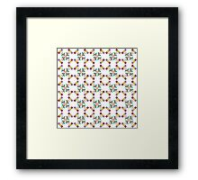 Colorful Tulips Pattern Framed Print