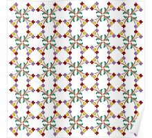 Colorful Tulips Pattern Poster