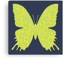 #DeepDream Lemon Lime color Butterfly Canvas Print