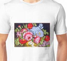 Flower basket - 1872 - Currier & Ives Unisex T-Shirt