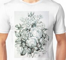 Flowers - Roses and bluebells - 1870 - Currier & Ives Unisex T-Shirt