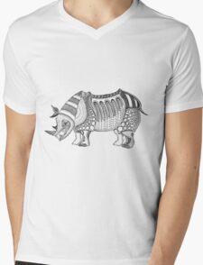 Javan Rhino Mens V-Neck T-Shirt