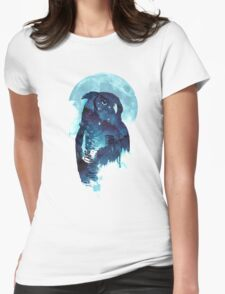 Midnight owl Womens Fitted T-Shirt