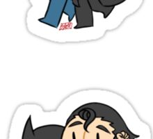 Supes and Bats~ Sticker