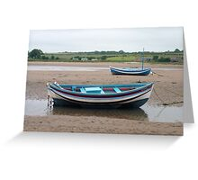 "Alnmouth cobles, ""Mizpah & Gracie"" Greeting Card"