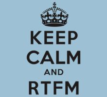 Keep Calm Geeks: RTFM Kids Tee