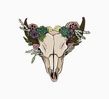 Cow skull in flowers Unisex T-Shirt