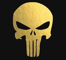 The Punisher Skull Gold Texture Unisex T-Shirt