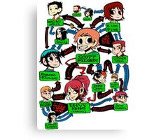 Scott pilgrim relationships Canvas Print