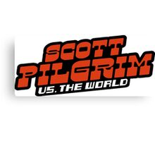 Scottpilgrim vs the world logo Canvas Print