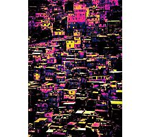 Homes On A Hill Pop Art Photographic Print