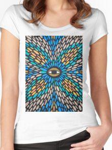 Psychedelic Street Art, Tel Aviv Women's Fitted Scoop T-Shirt