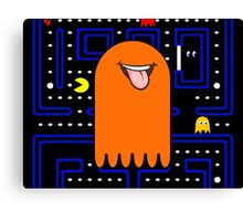 Retro Pac Man Monster Canvas Print