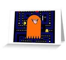 Retro Pac Man Monster Greeting Card