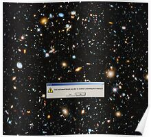 God Not Found, Hubble, Ultra Deep Field Poster