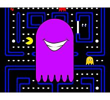 Retro Pac Man Monster Gamin Smile Photographic Print