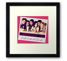 Friends --- Polaroid Group Photo Framed Print