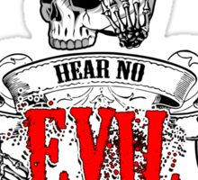 See No Evil 3 Wise Skulls Sticker