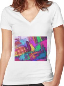 Urban angles Women's Fitted V-Neck T-Shirt