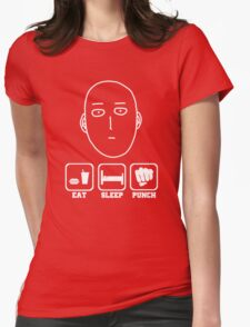 Eat Sleep Punch Womens Fitted T-Shirt