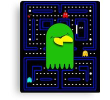 Retro Pac Man Gaming Monster Canvas Print