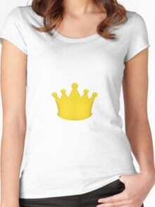 Crown Princess Prince Queen King Gold Women's Fitted Scoop T-Shirt
