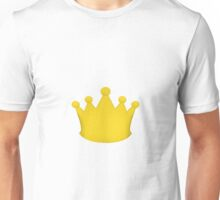 Crown Princess Prince Queen King Gold Unisex T-Shirt