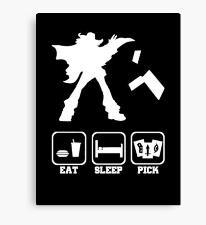 Eat sleep Pick 2 Canvas Print