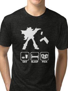 Eat sleep Pick 2 Tri-blend T-Shirt