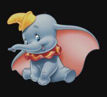 Sitting Dumbo Baby Tee