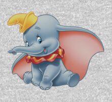 Sitting Dumbo Kids Tee