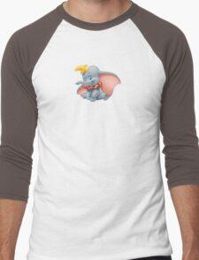 Sitting Dumbo Men's Baseball ¾ T-Shirt