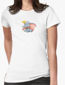 Sitting Dumbo Womens Fitted T-Shirt
