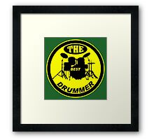 The Best Drummer yellow black Framed Print