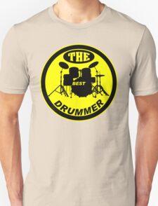 The Best Drummer yellow black Unisex T-Shirt