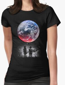 WATCH THE WORLD DIE Womens Fitted T-Shirt