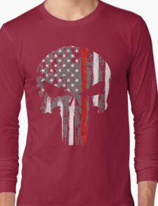 Punisher - Red Line Long Sleeve T-Shirt