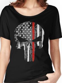Punisher - Red Line Women's Relaxed Fit T-Shirt