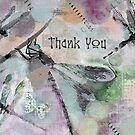 Dragonflies - Thank You by Betsy  Seeton