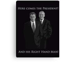 Hamilton x The West Wing - I need someone to lighten the load (Jed and Leo) Canvas Print