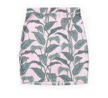 Pink Leaf Mini Skirt