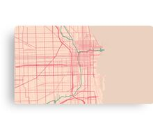 Chicago Map (Spring)  Canvas Print