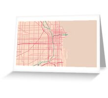 Chicago Map (Spring)  Greeting Card