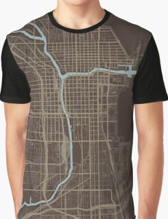 Chicago Map (Autumn) Graphic T-Shirt